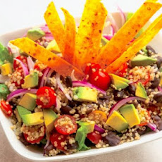 Tortilla Quinoa Salad With Lime Cilantro Dressing