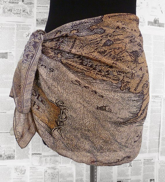 Lord of the Rings Middle Earth Sarong from Rooby Lane