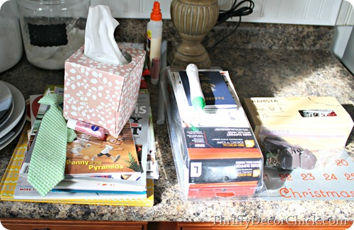 cleaning up clutter