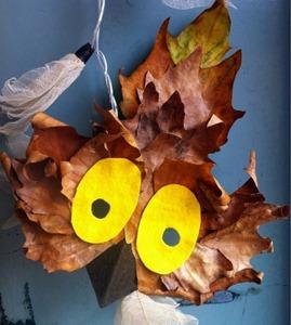 mascara buho otoño