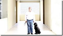 Crédito Alcione Ferreira DPD.A Press Perfil para a revista Aurora com o professor Francisco Joséde Lima, ele da aula de educacao inclusiva e fundou o Centro de Estudos Inclusivos. Ele é cego e tem um cão-guia chamado Okra.