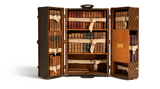 The book case trunk...a timelessly handsome way to store books.