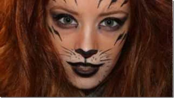 maquillaje de leon para mujer