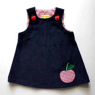 Pinafore apple dress
