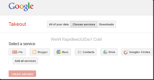 Backup All Your Blogger Blogs - Google Takeout