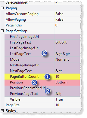 Pager Settings In Visual Studio