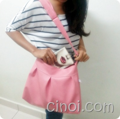 bubblegum handmade bag
