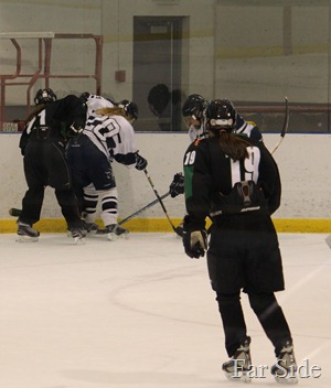 Vannah getting her puck back