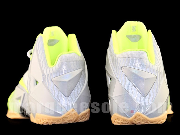 Nike LeBron 11 in Volt and Grey with Gum Stripes and 3M