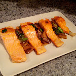 my new recipe Salmon mushroom supreme in Toronto, Ontario, Canada