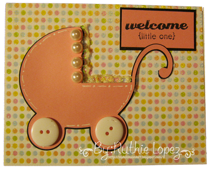 Platypus creek Digitals - Welcome baby svg card