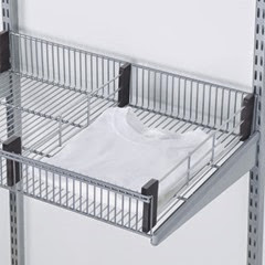 Elfa Wire Shelf Basket with Dividers