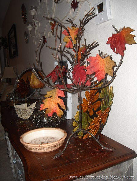 Fall buffet decor