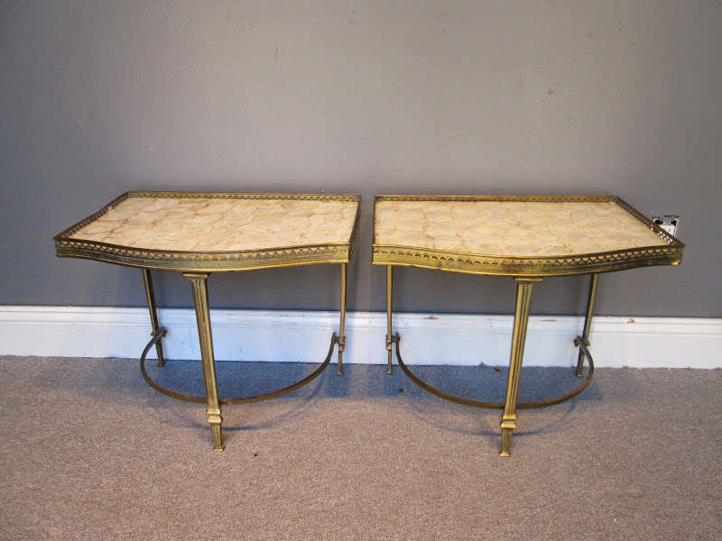 Empire Style Side Table Pair