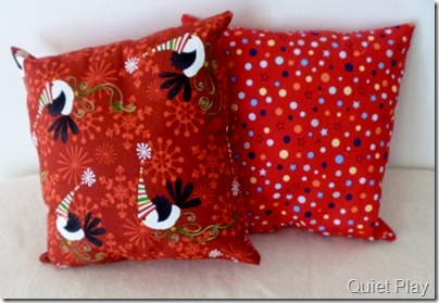 Sew Seasonal cushions theback