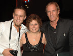 "Ellen and her son Brett Segal with Michael Bolton in New York, April 7, 2008, for the ""Breaking The Silence In Song"" competition just after winning the competition."