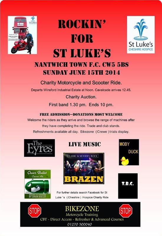 Rockin for St Lukes – Sun 15-6-14 – Nantwich FC
