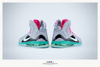 nike lebron 9 ps elite grey candy pink 9 17 sneakerbox LeBron 9 P.S. Elite Miami Vice Official Images & Release Date