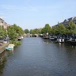 canals in haarlem in Haarlem, Noord Holland, Netherlands