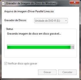Gravador de imagem de disco do Windows