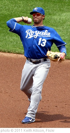 'Kansas City Royals Mike Aviles (13)' photo (c) 2011, Keith Allison - license: http://creativecommons.org/licenses/by-sa/2.0/