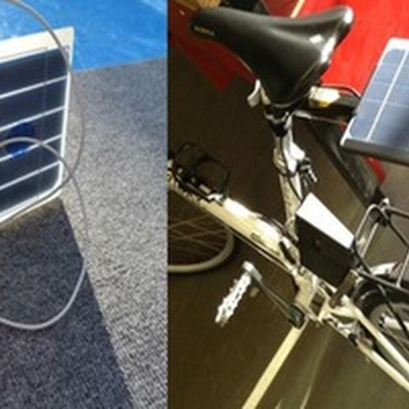 Cargador solar con puerto USB para tu bicicleta