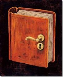 livro com maçaneta