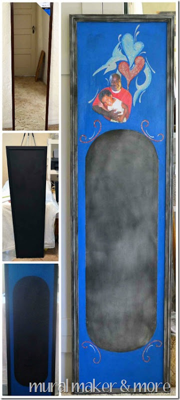 Craft a chalkboard from a mirror