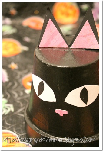 Halloween Painted Pot - Cat