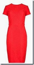 Ted Baker Textured Orange Dress