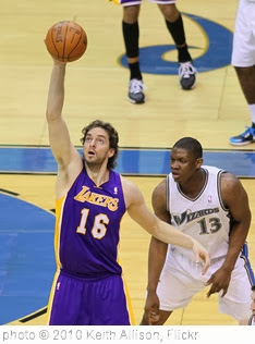 'Pau Gasol' photo (c) 2010, Keith Allison - license: http://creativecommons.org/licenses/by-sa/2.0/