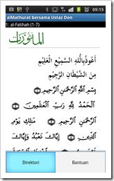 menu al-Ma'thurat versi 1.8