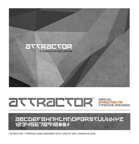 Attractor-Typeface