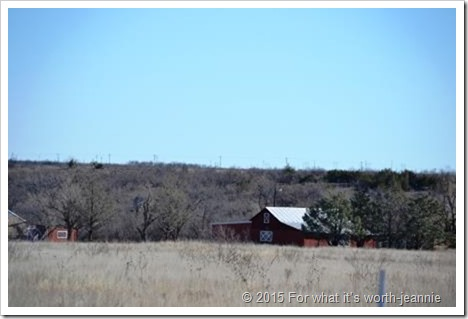 Texas homestead barn in winter