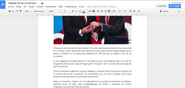 Editar documentos desde Gmail