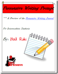 Persuasive Writing Prompt - Writing Proccess - Free