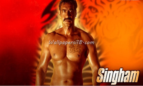 Ajay Devgan Singham Movie Wallpapers | Singham Film 2011 : Singam Kajal Aggarwal Latest Wallpapers
