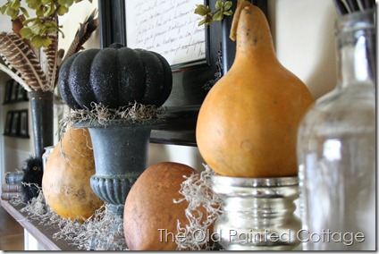 The Old Painted Cottage: Fall Mantel