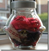 Red Ribbon Jar