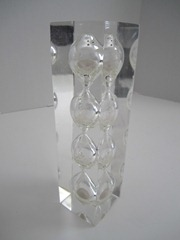 Acrylic/Lucite hourglass egg timer