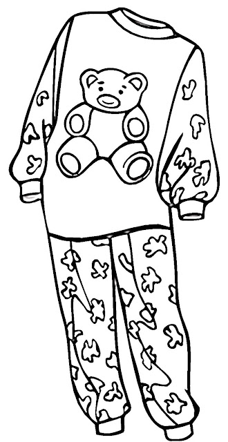 Colorear dibujos de pijamas dibujos para colorear for Pajama coloring page