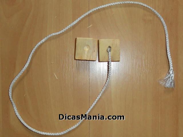 montagem do cordão com cubo