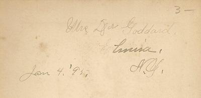 Goddard Jan 4 1895 Ny Craig back
