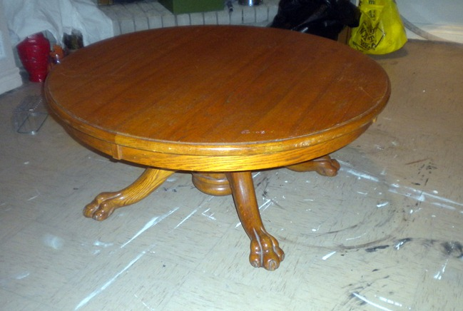 Claw Foot Round Coffee Table