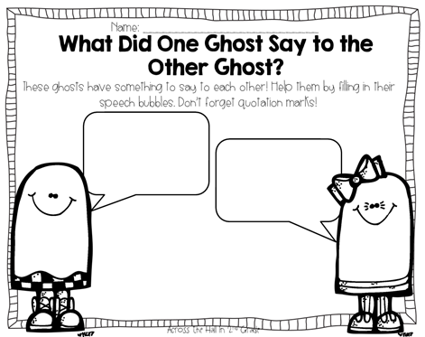 What did one ghost say