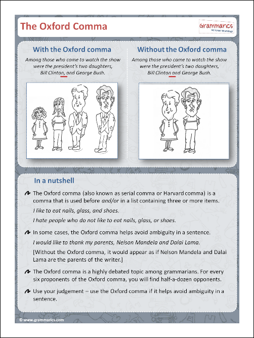 Grammarics Post - The Oxford Comma