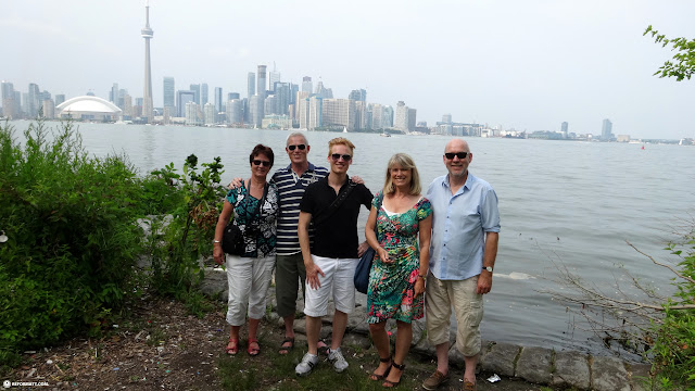 with my uncle & aunt on Toronto Island in Toronto, Ontario, Canada