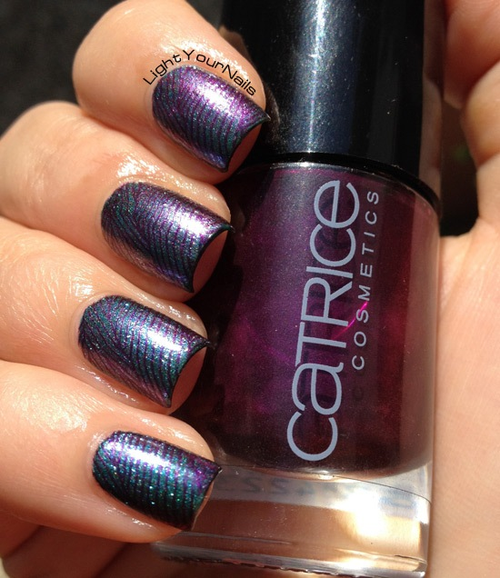 Duochrome stamping with BornPretty plate m89, Catrice Poison Me, Poison You!, Ludurana Marquesa