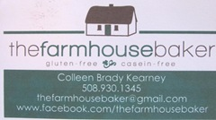 Cape Cod Columbus weekend 2012..Sat. Gluten Free business card