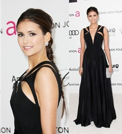 Nina Dobrev Wore Glamorous Dress With Sparkling Jewelry